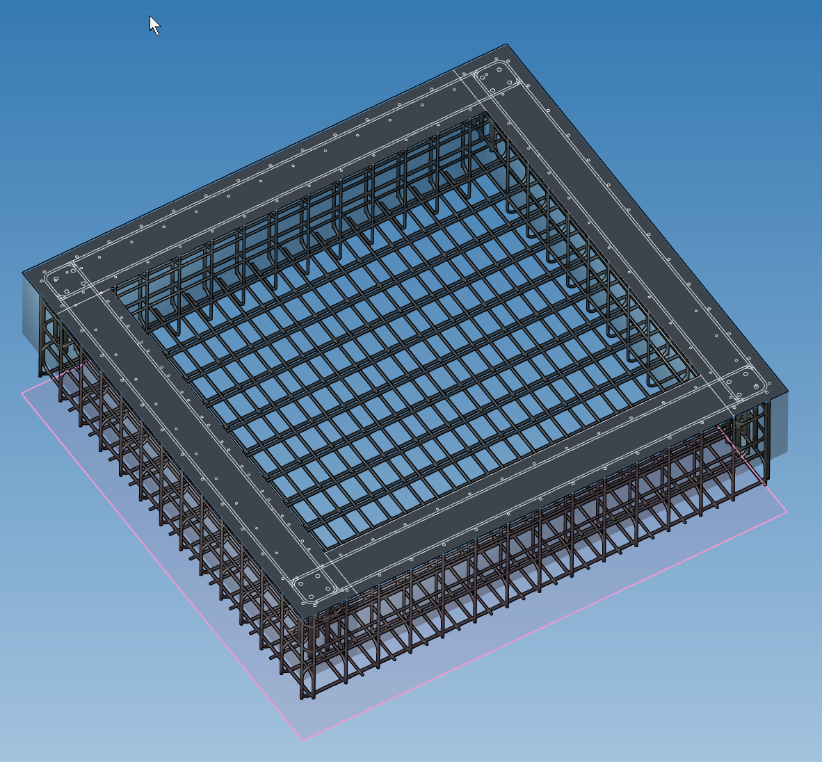 3D Modell – Bewehrung.